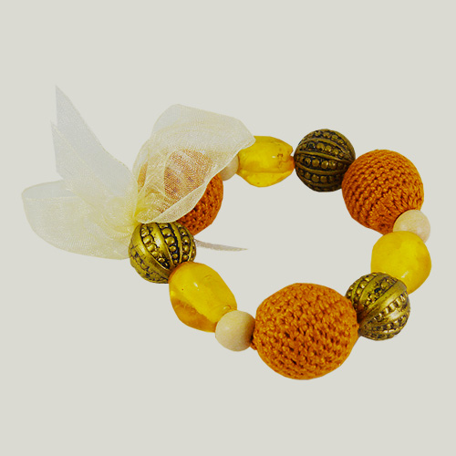 Knit Me Tie Me Bracelet - Maize